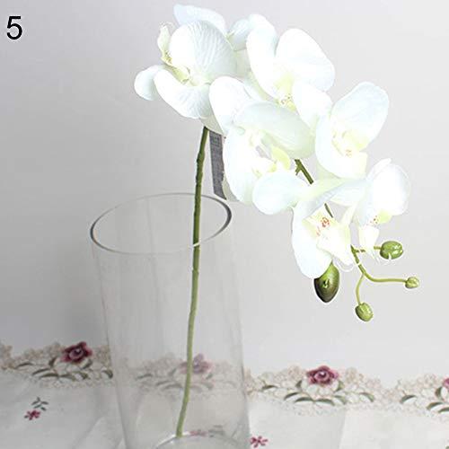 litymitzromq Artificial Flowers Fake Plants, Artificial Butterfly Orchid Silk Flower Home Wedding Decor Phalaenopsis Bouquet Faux Fake Flowers Floral Arrangement