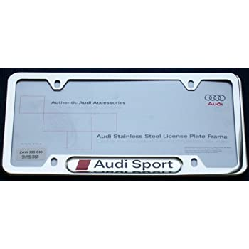 Audi Sport License Plate Frame The Audi Car - Audi license plate frame