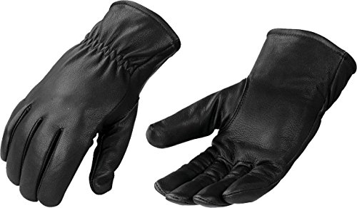 Milwaukee Leather Men's Premium Leather Thermal Lined Gloves with Cinch Wrist (Black, X-Large)
