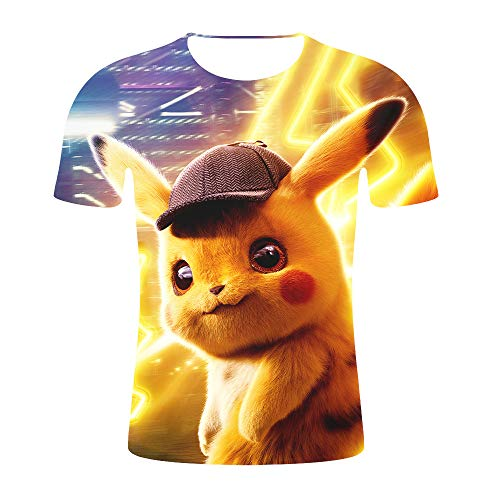 joywa Pikachu Shirt Detective Pikachu Costume Deadpool Cute Funny Graphic Tee Humor T-Shirts ()