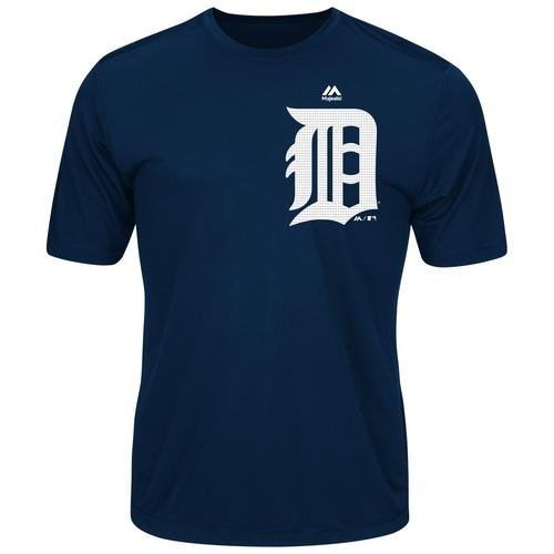 Detroit Tigers Adult Small Wicking MLB Licensed Authentic Replica Crewneck T-Shirt