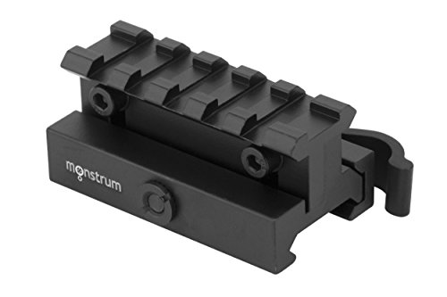 Cheap Monstrum Tactical Lockdown Series Adjustable Height Riser Mount with Quick Release (2.5 inch Length with Quick Release)