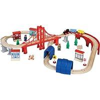 Maxim Enterprise Inc Wooden Train Set, 60-Piece