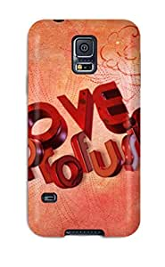 Hot 8619492K72165100 Case For Galaxy S5 With Nice Love Profusion Appearance