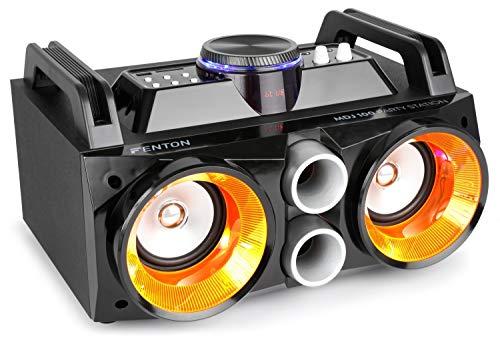 Fenton MDJ100 Altavoz portátil inalámbrico Bluetooth para Fiestas de 100 vatios, con batería incorporada, micrófono…
