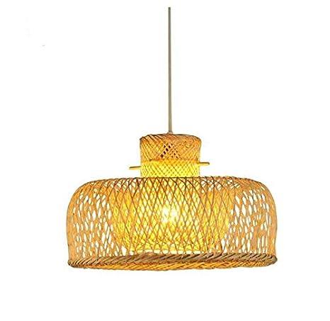 Araña de luces Iluminación de la lámpara Araña de bambú ...