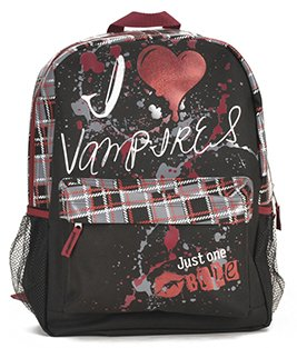 Outdoor Backpack in Vampires Heart Style and One HSM Coin Wallet Set