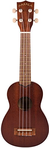 Kala MK-S Makala Soprano Ukulele Bundle with Gig Bag, Tuner, Strap, Aquila Strings, Online Lessons, Austin Bazaar Instructional DVD, and Polishing Cloth