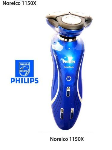 Philips Norelco 1150X / RQ1150 / 6100 SensoTouch 2d Electric Cordless Rechargable Mens Rotary Shaver Metallic Blue [並行輸入品] B01M7TPUJP