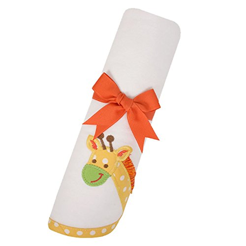 3 Marthas Boutique Baby Swaddling Receiving Blanket (Yellow Giraffe)