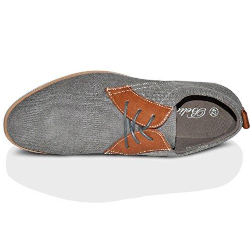 Xelay - zapatilla baja hombre Grey Pointed Toe