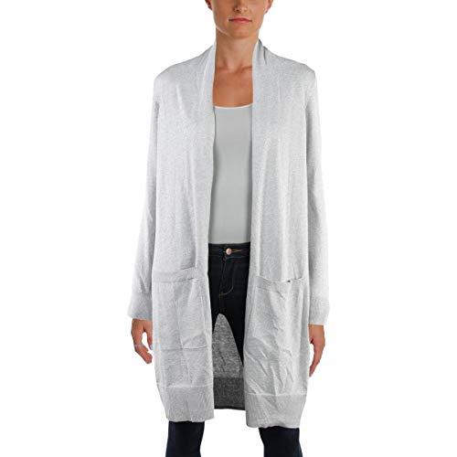 Michael Kors Cashmere Shrug - Michael Michael Kors Womens Metallic Day to Night Cardigan Sweater Silver M