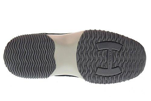 Sneakers Basse Uomo Hogan Hxm00n0q10267a3735 Nuovo Denim Blu Interattivo