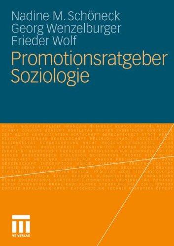 Promotionsratgeber Soziologie (German Edition)