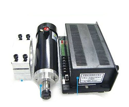 450w High-speed Air-cooled Spindle CNC Spindle Motor Kits PWM Speed Controller with Mount Bracket