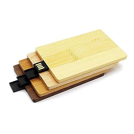 Pudincoco Tarjeta de crédito de Madera de Arce Natural USB ...