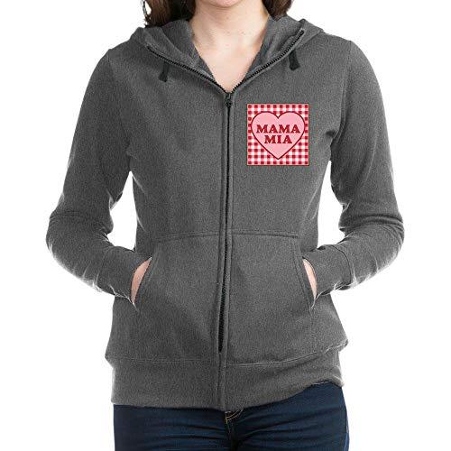 (CafePress Mama Mia Sweatshirt Women's Zip Hoodie Charcoal Heather)