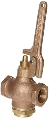 """Kingston 305A Series Brass Quick Opening Flow Control Valve, Pull Lever, 3/4"""" NPT Female from Kingston Valves"""