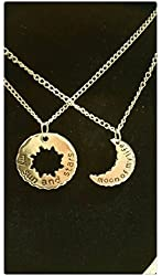 Two Game of Thrones Daenerys Targaryen Khal Drogo My Sun and Stars, Moon of My Life Necklaces
