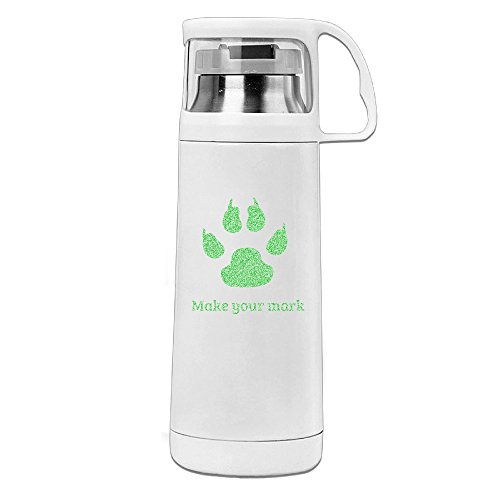 Beauty Make Your Mark.PNG Water Bottle With A Handle Vacuum Insulated Cup For Hot And Cold Drinks Coffee,Tea Travel Thermal Mug,14oz White