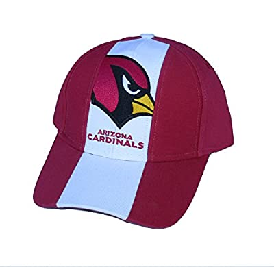 Arizona Cardinals Adjustable Red & White Stripe Hat Cap from Outerstuff Ltd.