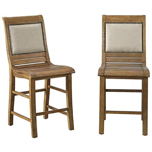 Progressive Furniture P808-64 Willow Upholstered Chair, Distressed Pine