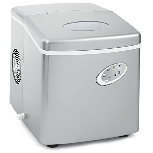 Emerson IM90T Portable design Silver Ice Maker with Over-Sized Ice Bucket - Produces 26 lbs of Ice Daily (Certified Refurbished)