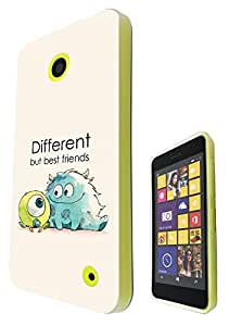 177 - Cool Fun Monsters Different But Best Friends Design Nokia Lumia 530 Fashion Trend Hard Plastic Case Protective Full Case Front, Back & All Edges Protection Case Cover