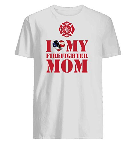 I love my firefighter mom T-shirt Printed With Eco-Friendly Inks ()