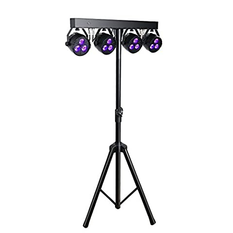 OPPSK Stage Lights Package with 4in1 Mini Gamut 3x4-watts LED Par, Tripod and Carry Bag for DJ Gig Bar Christmas - Stage Lighting Package