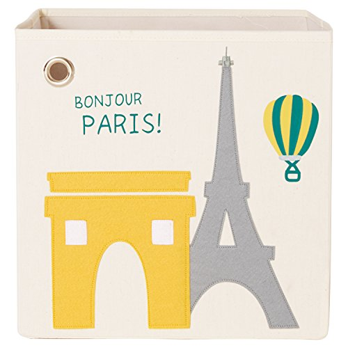 kaikai & ash Bonjour Paris! Canvas Storage Box and Organizer