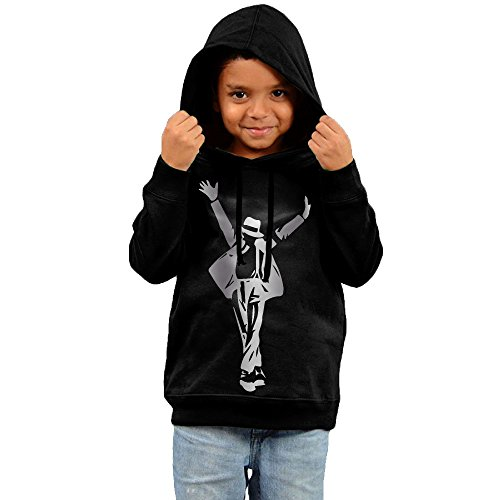 Little Boys Girls Michael Jackson Silhouette Platinum Style Hoodie Black