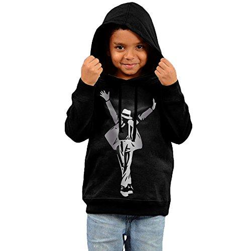 - Little Boys Girls Michael Jackson Silhouette Platinum Style Hoodie Black