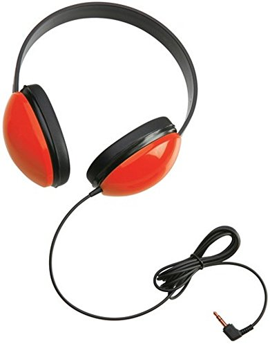 Califone Red Stereo Headphone - Califone 2800-RD Listening First Stereo Headphones with 3.5mm mini plug, Red