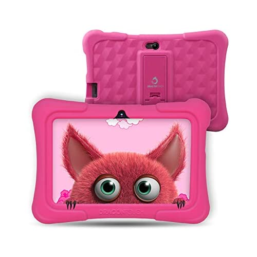 chollos oferta descuentos barato Dragon Touch Tablet para Niños con WiFi Bluetooth 7 Pulgadas 1024x600 Tablet Infantil de Android 9 0 Quad Core 2GB 16GB Doble Cámara Kid Proof Funda Tablet Niños Educativo Y88X Pro Rosa