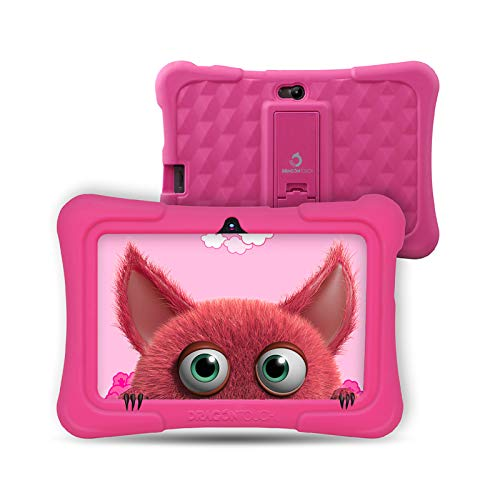 Dragon Touch Tablet para Niños con WiFi Bluetooth 7 Pulgadas 1024×600 Tablet Infantil de Android 9.0 Quad Core 2GB 16GB…