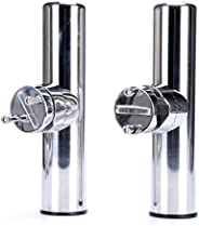 """Amarine-made 2pcs Stainless Clamp on Fishing Rod Holder for Rails 7/8"""""""