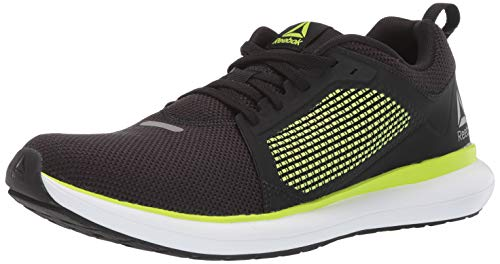 Reebok Men's DRIFTIUM Ride Running Shoe, Black/neon Lime/White/True Grey, 8 M US