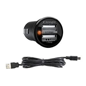 Kensington PowerBolt Duo - Cargador de coche USB con cable USB para Kindle