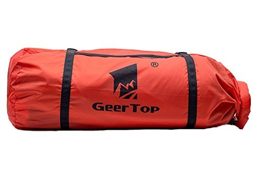 Geertop Waterproof Adjustable Tent Compression Bag Lightweight Duffel Bag - for Camping Outdoor Sports (Red, for 2 to 3 Men Tent)