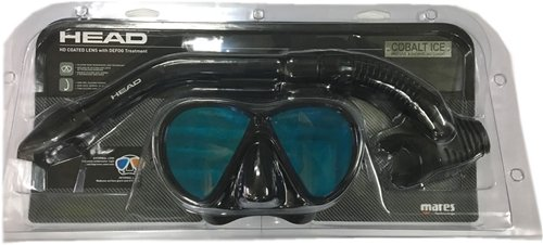 Head Cobalt Ice Mirrored Lens Mask and Snorkel Combo (Ice Snorkel)