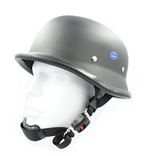 Hot Rides Classic Costume Carnival Skate Scooter Helmet Novelty (Not Safty) For Cruiser Harley German (Flat Black,Medium) (Motorcycle Helmet Germany)