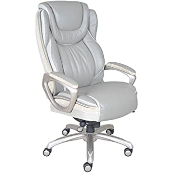 Serta Big And Tall Smart Layers Serenity Executive Office Chair, Gray