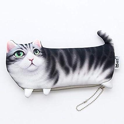 Bureze - Estuche para lápices, diseño de gato: Amazon.es: Oficina y papelería