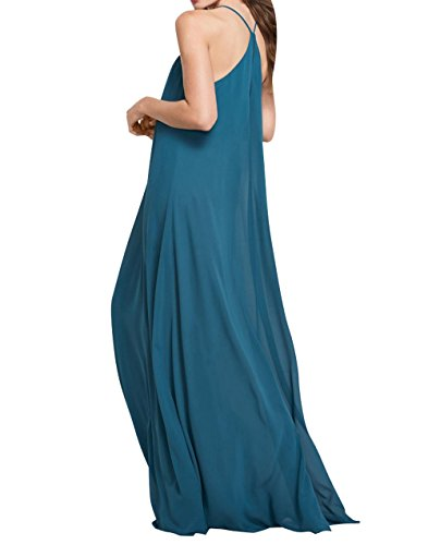 Lang La Chiffon Linie Elegant Abendkleider Rock Tuerkis Brautjungfernkleider Einfach Festlichkleider A Brau mia Partykleider rPCxfzqr
