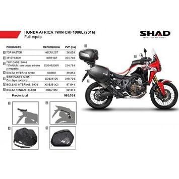 SHAD - KIT-SHAD-5/214 : Maletas laterales, baul, soportes, bolsas kit HONDA AFRICA TWIN CRF1000 L: 2016-2016 -: Amazon.es: Coche y moto