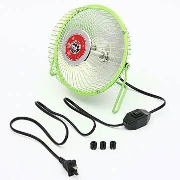 6 Inches Heater Fans Small Electric Heater Fan Desktop Heater /Green