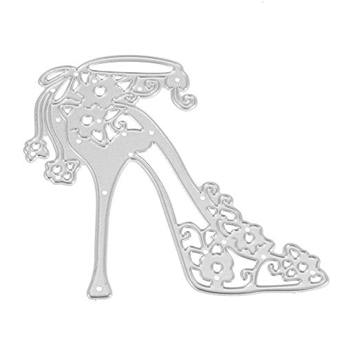 High-heeled Metal Decorative Scrapbooking Paper Cutting Dies Template Stencils for Photo Album - Camera Accessories Photo Albums- 1 x High Heeled Shoes DIY Scrapbooking Dies Cut -