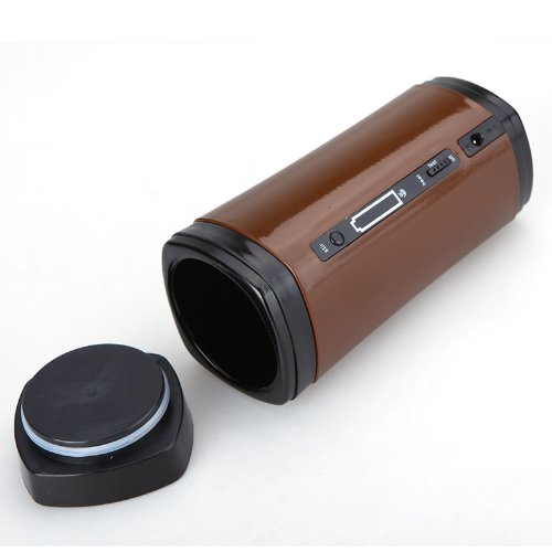 [해외]Kingzer 충전식 USB 컵 온열기 자동 커피 차 차 음료에 대한 약동/Kingzer Rechargeable USB Cup Warmer Heater Auto Stir for Coffeee Tea Beverage Brown