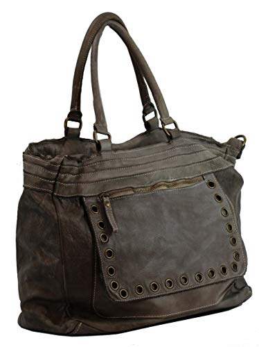 Shoulder BZNA Designer Bag Luisa Brown Women's Italy Leather Taupe wB64pBq1x